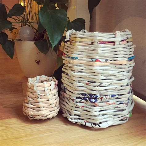 diy papierkorb aus alten zeitungen handmade kultur