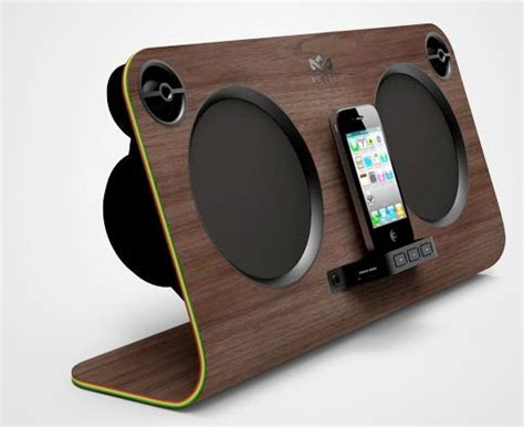 iphone speaker dock trendy design speakers for your iphone wood and plastic