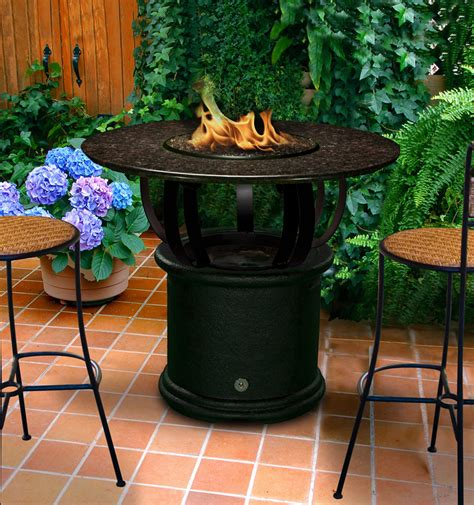 fire pit bar table del mar bar height multifunctional gas logs fire pit table