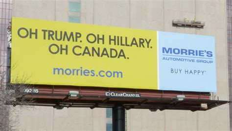 Morrie's Ads Poke Fun At Donald Trump, Hillary Clinton And