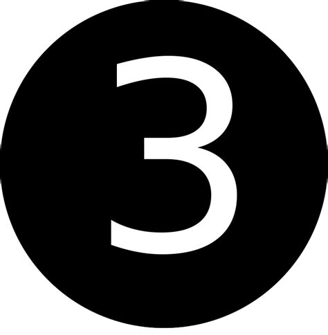 numbers black and white file 3 number black and white svg wikimedia commons
