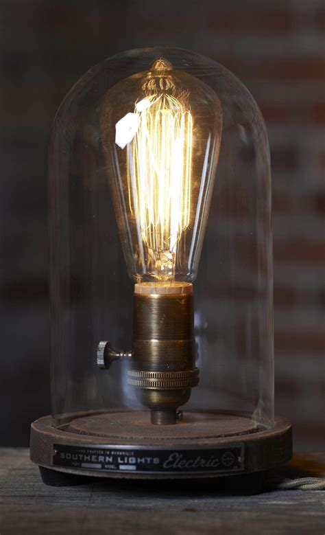 original bell jar table lamp