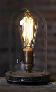 Industrial Edison Lights The Original Bell Jar Table Lamp