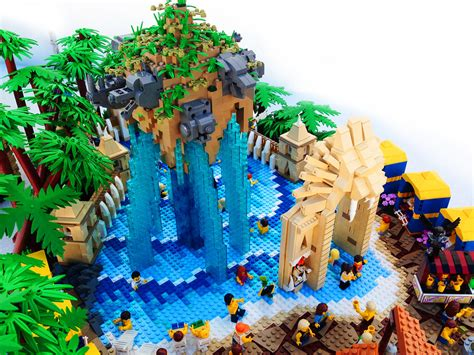 lego legends  chima water park lion pool