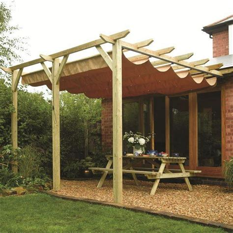 wooden patio pergola garden sun canopy gazebo direct