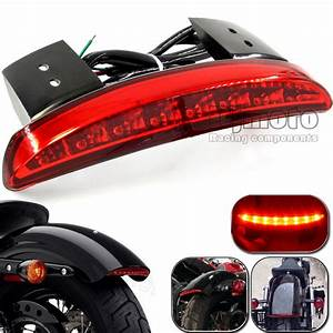 Aliexpress buy motorcycle rear fender edge led tail light taillight for harley davidson