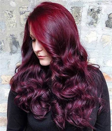 sangria hair color sangria hair dye hairstyle inspirations 2018