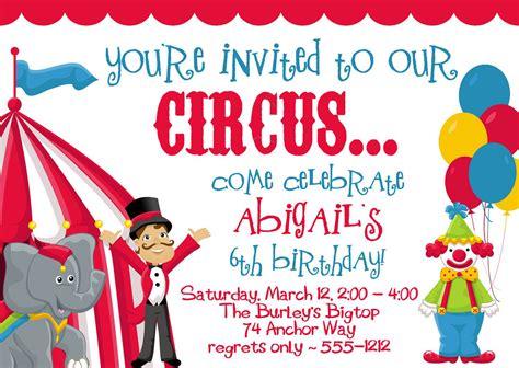 carnival invitation circus invitations invitations templates