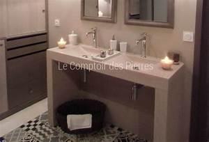 bain pierres naturelles de bourgogne With double vasque en pierre salle de bain