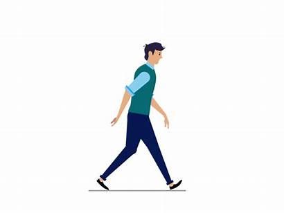 Walk Human Cycle Animation Cartoon Walking Illustration