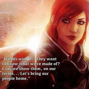 Best 25+ Comman... Mass Effect Shepard Quotes