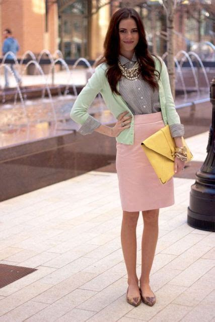 adorable outfits  mint blazers  stylish ladies