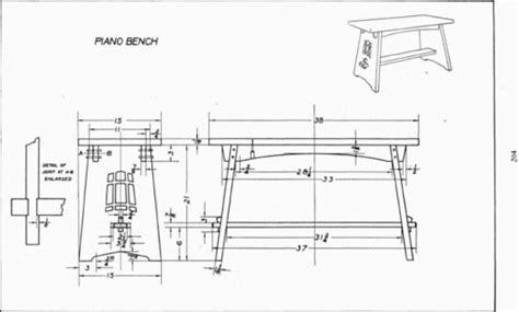 plate  piano bench mechanical drawing