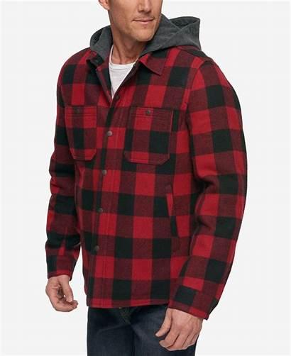 Plaid Jacket Hooded Buffalo Shirt Bass Gh