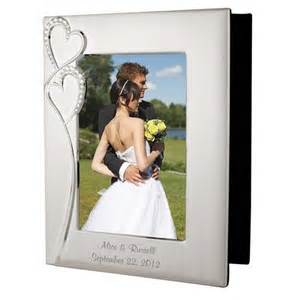 wedding photo albums personalized wedding silver photo album with frame
