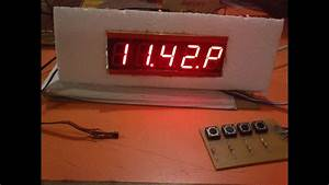 Seven Segment Clock With Temperature Display Using Ds1307