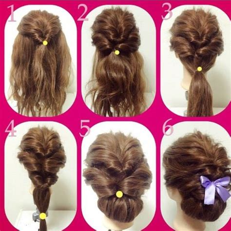 diy fashionable braid hairstyle  shoulder length hair