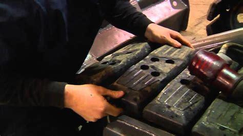 replacing mini excavator rubber track pad bobcat asv jcb asv deere gehl volvo thomas youtube