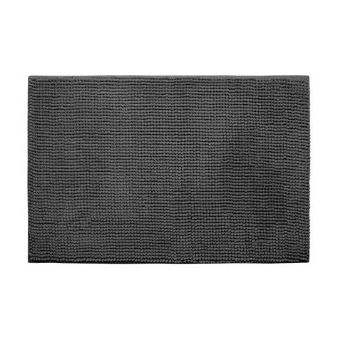 gray doormat bouncecomfort plush chenille gray 20 in x 30 in