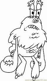 Yeti Crab Coloring Spongebob Squarepants Cartoon Designlooter Coloringpages101 sketch template