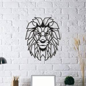 Sculpture Murale Design : d coration design m tal lion artwall and co ~ Teatrodelosmanantiales.com Idées de Décoration