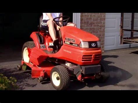 diesel lawn tractor kubota tg1860 diesel lawn tractor start up 3322