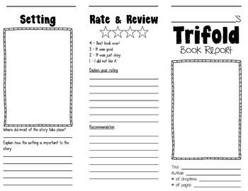 Tri State Lesson Plan Template by Trifold Book Report By Gary Thury Teachers Pay Teachers
