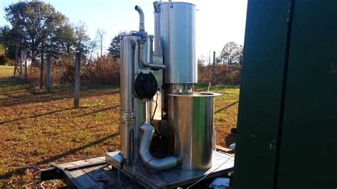 gasifier running  ford kw generator youtube