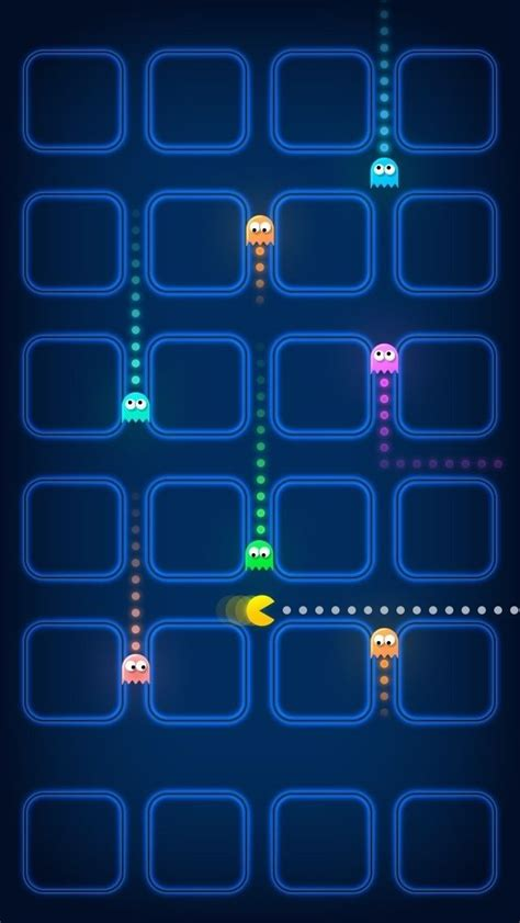 pacman game ghosts speed blur iphone  wallpaper iphone