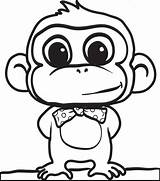 Monkey Coloring Pages Head Forget Supplies Don sketch template