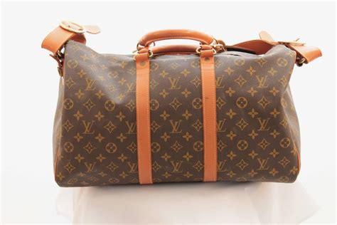 louis vuitton saks large monogram duffel bag overnight travel keepall rare   stdibs