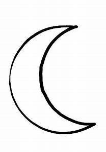 Crescent Moon Outline - ClipArt Best