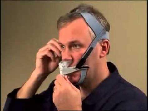 Adjusting the Respironics Optilife CPAP Mask - YouTube