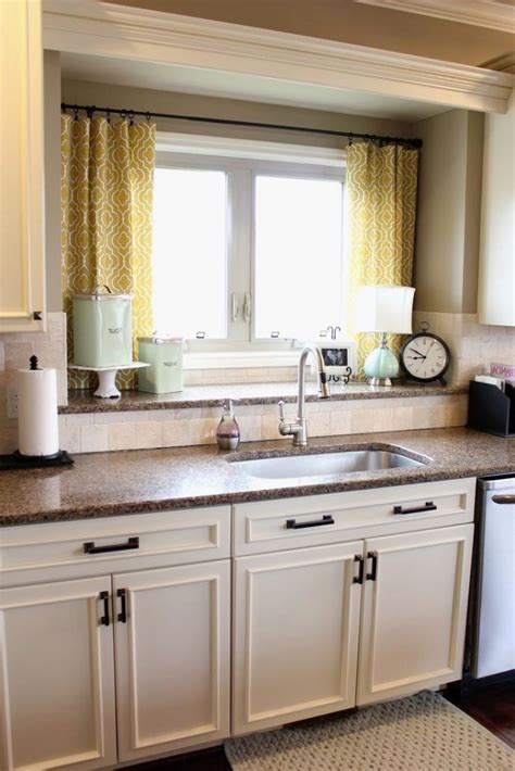 Elegant Kitchen Window Treatments Above Sink   GL Kitchen