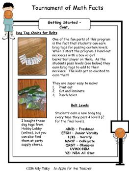 math facts multiplication  division fact fluency
