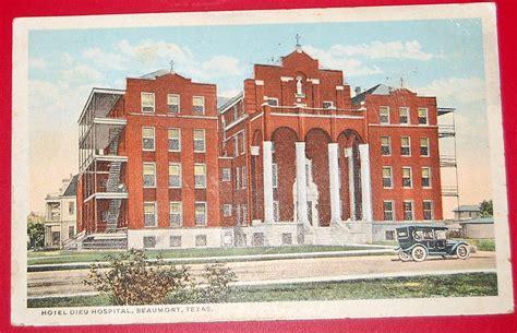 vintage  postcard hotel dieu hospital beaumont texas