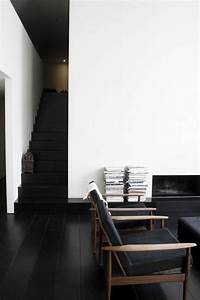 Savon Noir Parquet : le parquet noir en 45 super photos ~ Premium-room.com Idées de Décoration