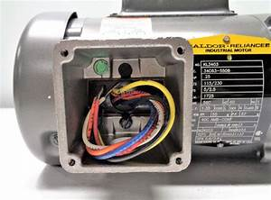 Baldor Reliance Motor  1  4 Hp  115  230v  1725rpm  1ph  Kl3403  34c63
