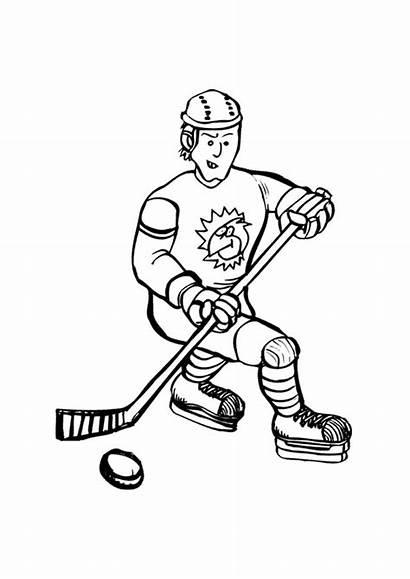 Hoki Halaman Hockey Kanak Coloring Warna Untuk