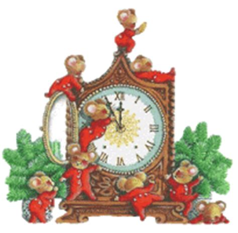 BAÚL DE NAVIDAD: Gifs reloj Nochevieja