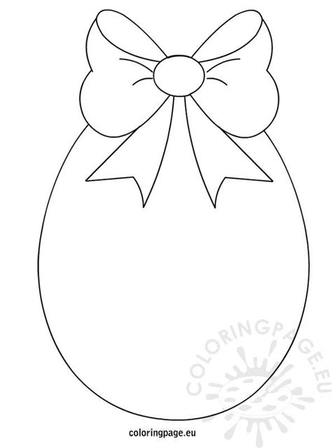 easter egg  bow coloring page