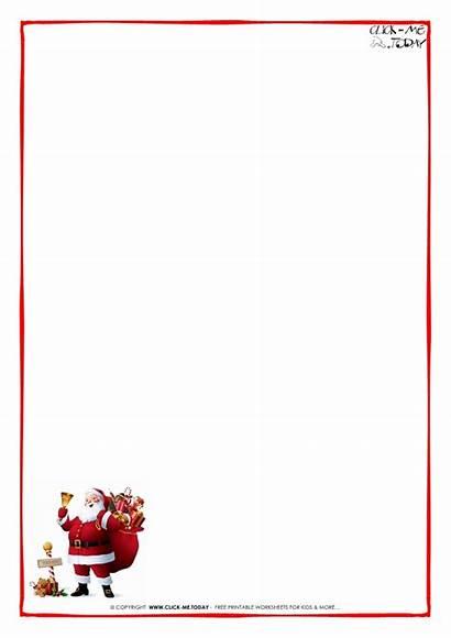 Letter Paper Border Santa Template Printable Father