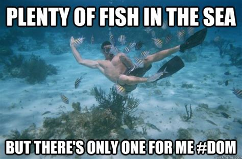 Fish In The Sea Meme - plenty of fish in the sea but there s only one for me dom dc fish quickmeme