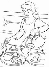 Coloring Pages Disney Tea Cinderella Printable Teapot Colouring Decorative Sheets Princess Adults Serving Para Colorir Birthday Desenhos Printables Colors Cartoon sketch template