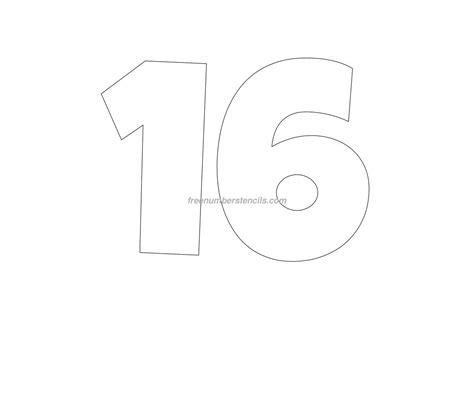 giant  number stencil freenumberstencilscom