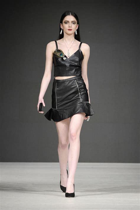 models walk  runway  vancouver fashion week leather