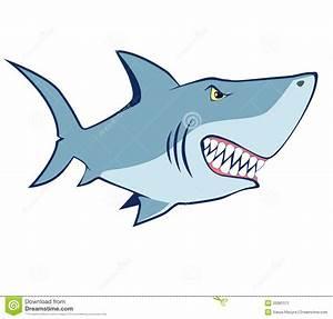 Cartoon Shark. Vector Illustration Stock Vector ...