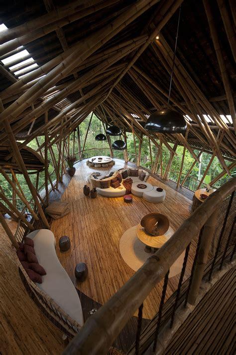 dramatic bamboo house  bali idesignarch interior