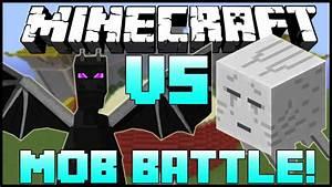 QuotENDER DRAGON VS GHASTquot Minecraft Mob Battle Arena