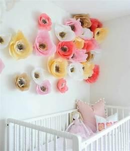 fabriquer une fleur en papier de soie 67 idees diy With chambre bébé design avec fleur couronne